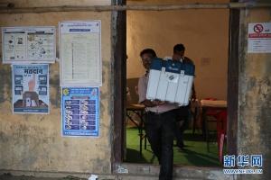 2019年印度大选投票结束