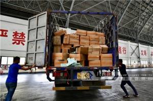 海关在南宁集中无害化销毁80余吨走私香烟(组图)