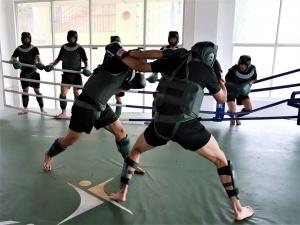 拳拳到肉!實拍武警官兵搏擊訓練現場(組圖)