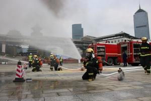 桂林開展2019年城市燃氣管網泄漏爆炸事故應急演練