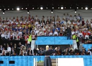 爱沙尼亚举行大型歌舞庆典活动