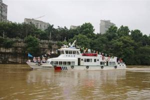 """百色海事局""""海巡10956""""船正式列編并首航"""