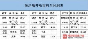 """南宁增开3对""""沿海沿边""""列车!暑期沿海游更方便"""