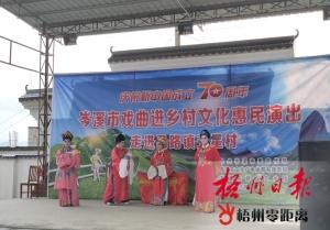 梧州市大力推进戏曲进乡村工作