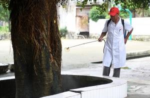 罗城开展灾后卫生防疫消毒工作