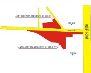 南宁星光大道旁旧改项目用地以起始价成交(图)