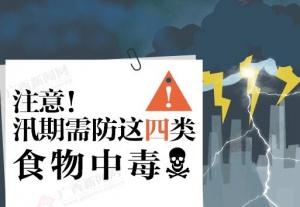 图解:注意!汛期需防这四类食物中毒