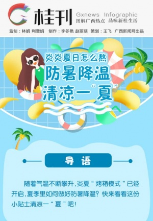 """【桂刊】炎炎夏日怎么熬 防暑降温清凉一""""夏"""""""
