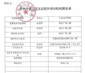 桂林14所艺考机构被拉黑 具体名单公布
