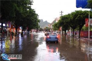 高清组图:大雨过后,他们是最美的贺州人