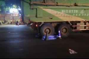 突發!南寧新陽明秀路口發生車禍 泥頭車碾壓電動車致2人身亡