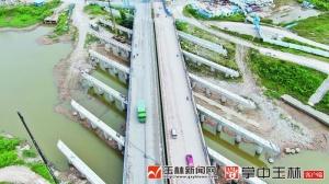 玉林二环南路南流江大桥架设桥梁(图)