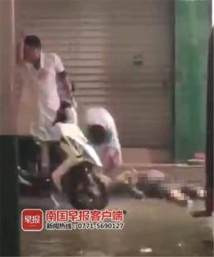 暴雨后道路积水 上思2名路人疑因触电不幸身亡!