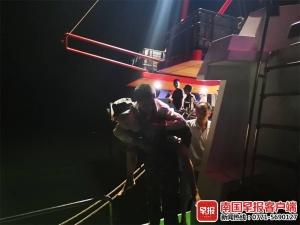 一渔民在防城港捕鱼时受伤休克 幸得海警官兵施救