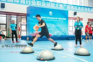 2019全国体育行业职业技能大赛广西选拔赛开赛-图