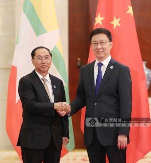 韩正会见出席第十六届中国-东盟博览会的东盟国家领导人
