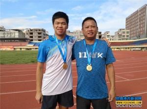 上思籍選手摘下全國殘運會100米400米金牌