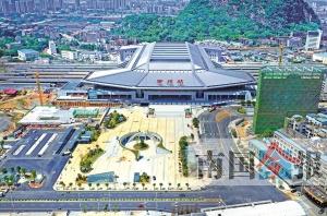 柳州火车站东站房预计29日试运行 记者提前探营