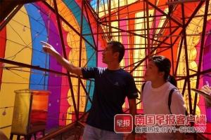 南宁青秀山灯展刷屏幕后 10天种下近两万株