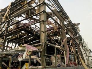 """多图直击:玉林陆川""""10·15""""厂区爆炸  厂房受损严重"""
