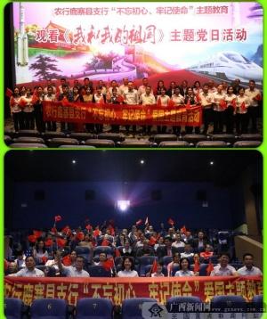 农行鹿寨县支行开展观影主题党日活动