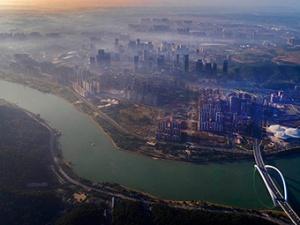 11月4日焦点图:南宁五象新区薄雾轻笼美极了