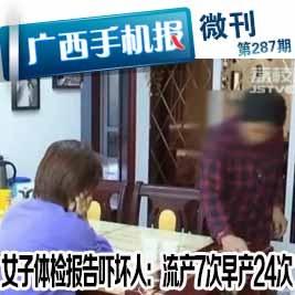 【微刊297期】江蘇女子體檢報告流產7次 早產24次