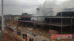 突发!南宁一在建工地着火,两名女工不幸身亡
