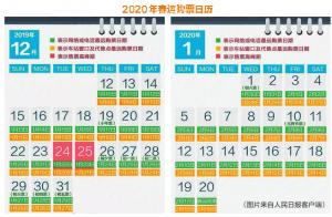 <b>2020年春運火車票開售 電子客票全面鋪開(圖)</b>
