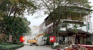 桂林穿山公园内这家约3010平米的违建餐馆被拆除