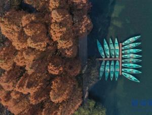 冬日西湖色彩斑��