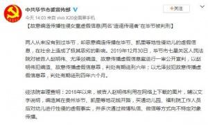 编造传播贵州毕节、凯里性侵幼儿假信息 2人被判
