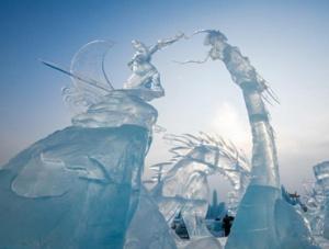 第九届中国・哈尔滨国际组合冰雕比赛落幕