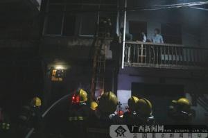 河池宜州区一民房起火 消防安全转移4人
