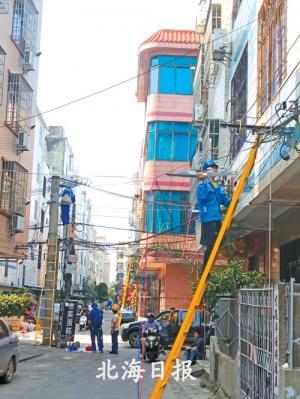 """安裝新LED燈4560盞 北海小街背巷路燈""""亮堂堂"""""""