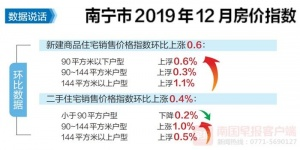 南寧房價去年12月漲幅排全國第七