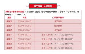 南寧市13家醫院發熱門診24小時值班(名單)