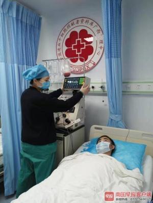 配型成功!广西小伙捐造血干细胞救外地患者(图)