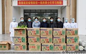 北海市银海区向抗疫医护人员赠送果蔬