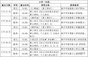 """广西中小学""""空中课堂"""":2.17—2.21课表"""