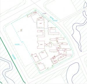 南宁十四中三塘校区施工红线图公布,有14座建筑