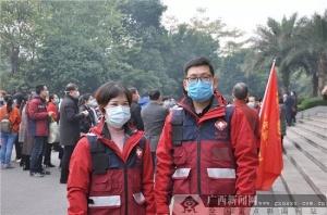 威尼斯人网站市红十字会医院首批支援湖北医疗队员出征