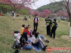 南寧石門公園實行分批入園,每批限量500人