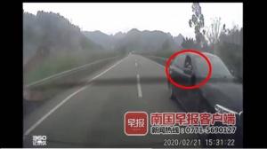 高速上出现可怕一幕!有人用疑似弹弓攻击其他车辆