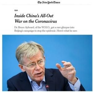 世卫组织访华专家组组长:中国的抗疫方式是可以复制的,但需要速度、资金、想象力和政治勇气