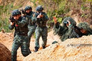 来宾:武警特战队员掀起春季练兵热潮