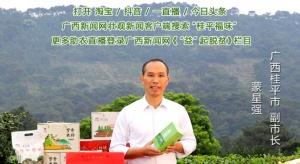 壮观主播与桂平副市长一起卖特产啦!