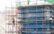 引江济淮工程淠河总干渠钢渡槽墩柱浇筑完工