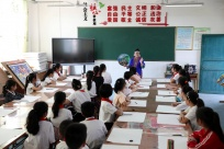 三江:非遗文化进课堂 学子学习非遗文化技艺(图)