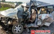 南宁一大货车和面包车相撞,致5人不幸身亡(组图)